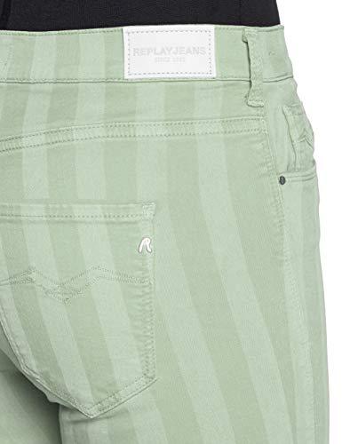 Mujer Vaqueros Para Verde Skinny Green Stella Zip pale Replay 70 Ankle YCHWqw