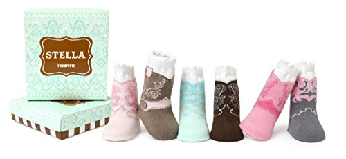Trumpette Baby Girls Sock Set-6 Pairs, Stella's-Assorted Pastels, 0-12 Months ()