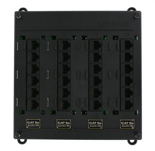 - Leviton 476TM-524 Twist and Mount Patch Panel with 24 CAT 5e Ports