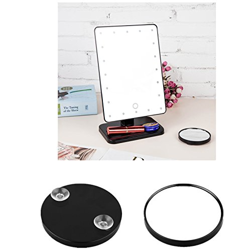 Ovonni tabletop led lighted makeup mirrors touch screen for 180 degrees salon dubai
