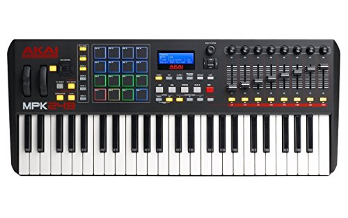 Akai Professional Compact Keyboard Controller (49-Key) with 4-Port USB 2.0 Hub + MIDI Cable Pack of Cable ties…