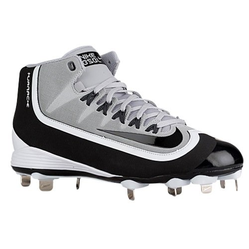Nike Men's Huarache 2KFilth Pro Mid Baseball Cleat 8 Black