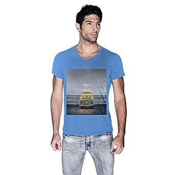 Creo Beach Van T-Shirt For Men - Xl, Blue