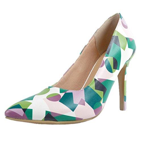 Kolnoo Damen Art- und WeiseAbsatz-einfache beiläufige Gerichts-Schuhe für BFCM Partei-Abschlussball Green