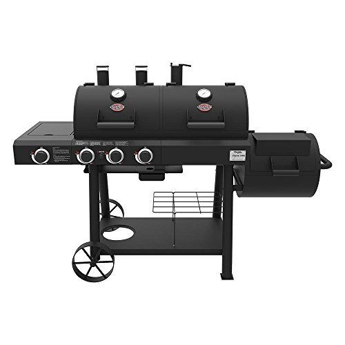 Char-Griller 3070 Texas Trio 3-Burner Dual Fuel Grill with S
