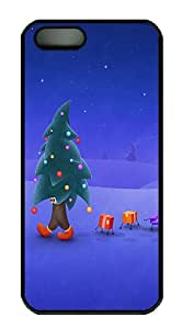 Walking Christmas Tree Polycarbonate Custom iPhone 5S/5 Case Cover - Black