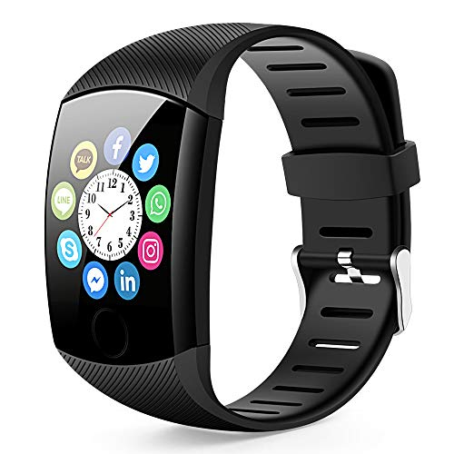 (Bluetooth Smart Watch, Touch Bluetooth Smart Watch Fitness Activity Tracker,Step Counting Heart Rate Monitoring Waterproof etc Compatible with iPhone iOS Samsung lg Android System for Men Women)