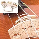 Musical String Wire Slide-On Violin Mute, Violin Wire Mute, Brass And Steel Rubber Tubing For Protection,4/4 And 3/4