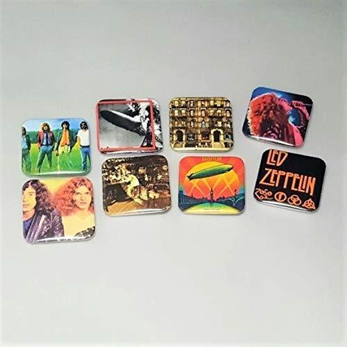 Led Zeppelin Mothership Physical Graffiti Robert Plant Set Of 8 Custom 1.5