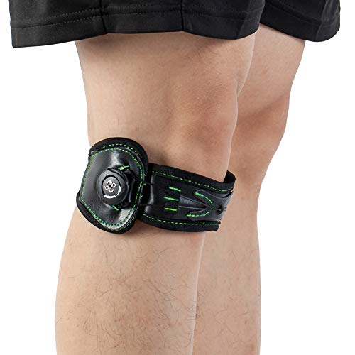 Stabilizer Strap (Patella Stabilizer Knee Strap Brace Support for Knee Pain Relief for Hiking, Soccer, Basketball, Running, Jumpers Knee, Tennis, Tendonitis, Volleyball & Squats L)