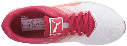 Rose 300 Blanc Compétition Chaussures Running de Speed White WN Puma Fluo Ignite Femme Peach Red 5wPzPR
