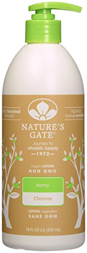 Hemp Oil Lotion (Nature's Gate Hemp Moisturizing Body Lotion for Dry Skin - 18 oz)