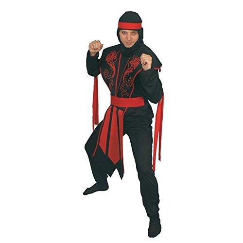 Disfraz Ninja, hombre, adulto. Talla única. Incluye: Traje ...