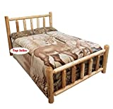 King Size Log Bed Frame Michigan Rustics Rustic Log Bed Twin, Full, Queen, King (King)