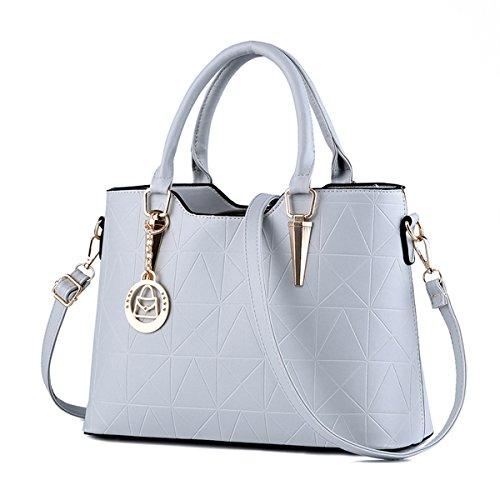 RUIREN Multifunción Soft Bag Portable Women Bolso de Hombro Gris Claro