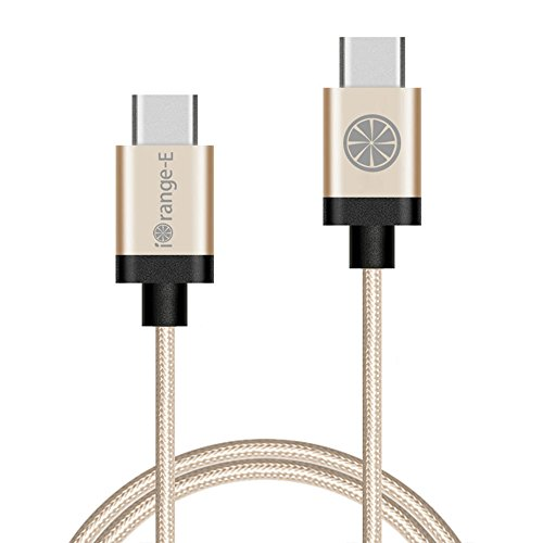 iOrange-E-USB-20-Type-C-to-Type-C-Braided-Cable-for-Nexus-5X6P-Chromebook-Pixel-OnePlus-Two-Lumia-950950XL-ZUK-Z1-and-Other-USB-Type-C-Supported-Devices-66-Feet-2-Meter-Gold