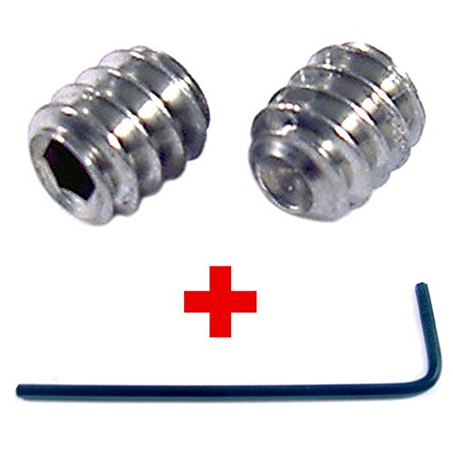 """4-40 x 1/8"""" Socket Set Screws Cup Point Stainless Steel 10 Pack With .050 Hex Key Wrench (1/8"""" Length)"""
