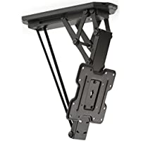Displays2go Ceiling Mounted TV Bracket, Steel Build, Remote Control – Black Finish (LMCEMOT42)
