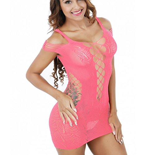 Babydoll Maille Résille Taille Rawdah Robe Nuisette Body Libre cqzZB0wK