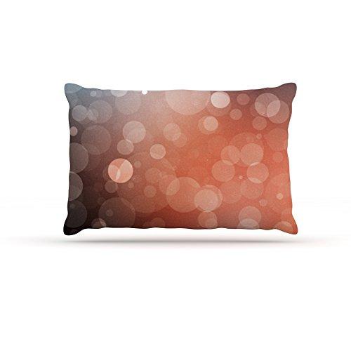 Kess InHouse KESS Original Sunset  orange Bokeh Dog Bed, 30 by 40-Inch