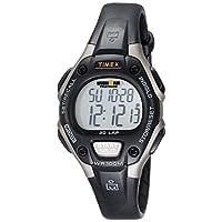 Timex - Reloj mediano de cuarzo digital Ironman de 30 vueltas para mujeres, negro /gris - T5E961