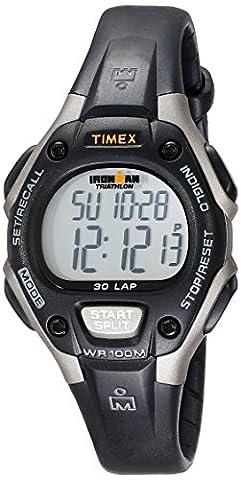 Timex Women's Ironman 30-Lap Digital Quartz Mid-Size Watch, Black/Gray - T5E961 - Timex Water Resistant Watch