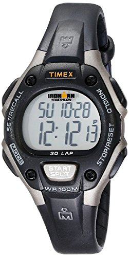 Timex Women's Ironman 30-Lap Digital Quartz Mid-Size Watch, Black/Gray - T5E961 (Turn Counter Dial)