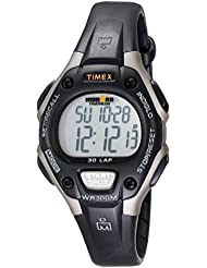 Timex Womens Ironman 30-Lap Digital Quartz Mid-Size Watch, Black/Gray - T5E961