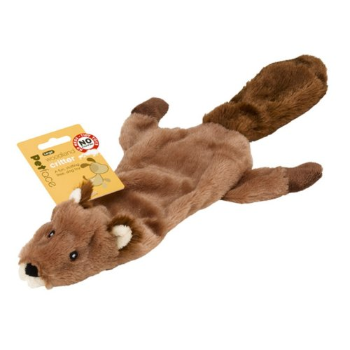Petface Woodland Critters – Large Dog Toys (Pack of 4, 2 x Racoon, 2 x Fox)