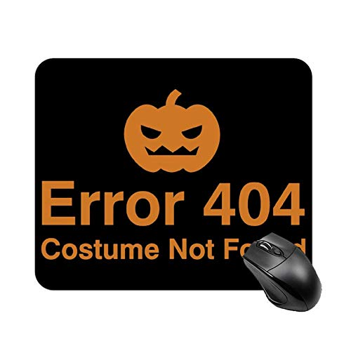 Welkoom Error Costume not Found Pattern Decorative Mouse Pad Custom Custom Mouse Mat Painting Art Mouse Pads ()