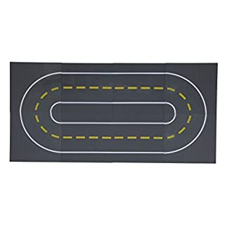 """Strictly Briks 8 Road Baseplates 10"""" x 10"""" Building Brick Base Plate 100% Compatible with All Major Brands 