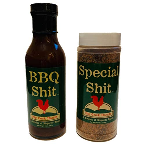 Bbq Sauce Chicken (Special Shit and BBQ Shit Kit | Funny BBQ Sauce Gift Set | Best BBQ Accessory | Made in the USA | Makes a Great Gag Gift for Men | Season Your Steak, Chicken, and Ribs Perfectly | Great for a Laugh)