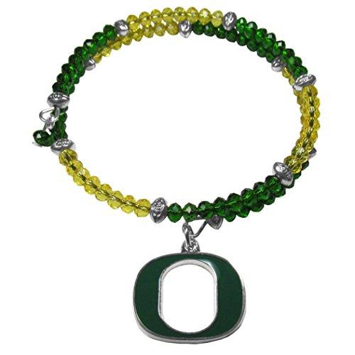 Siskiyou NCAA Oregon Ducks Crystal Memory Wire Bracelet