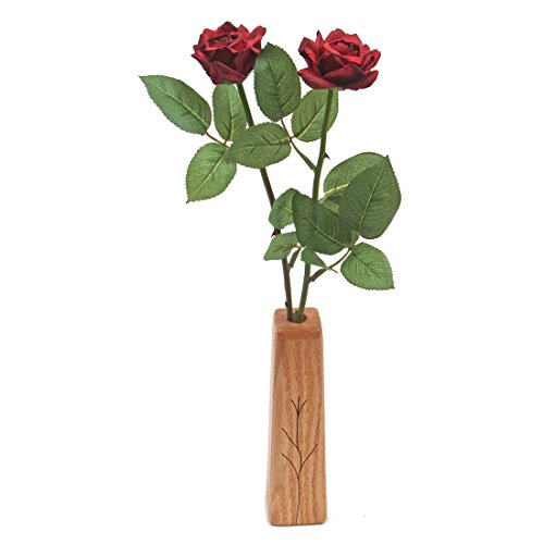 1st Wedding Anniversary gift 2-stem paper roses with vase