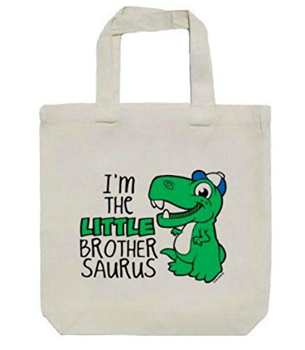 Little Brother Green Dinosaur Canvas Tote Bag, Books, Toys, Crafts 13