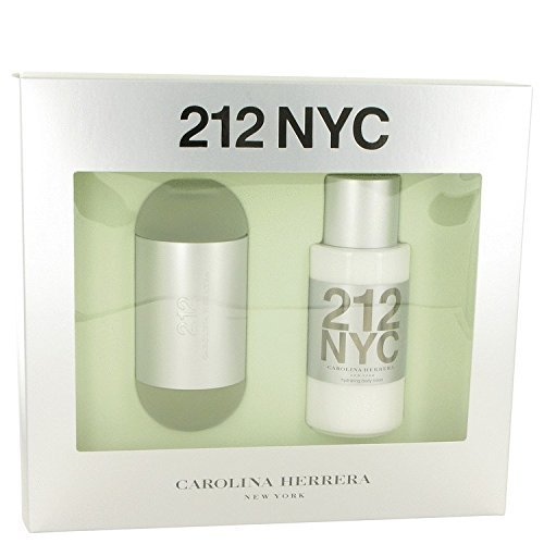 (Carolina Herrera 212 Gift Set Eau de Toilette Spray 3.4 oz & Body Lotion 6.7 oz 2 pcs)