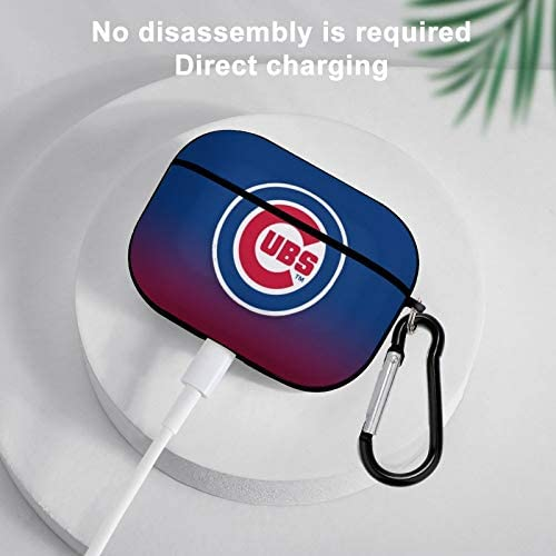 G-III sports activities Chicago Cubs Headphone case, Airpod Pro Case may also be flexibly Used in Airpods 3 TPU case, The Third Generation Shockproof TPU Airpod case