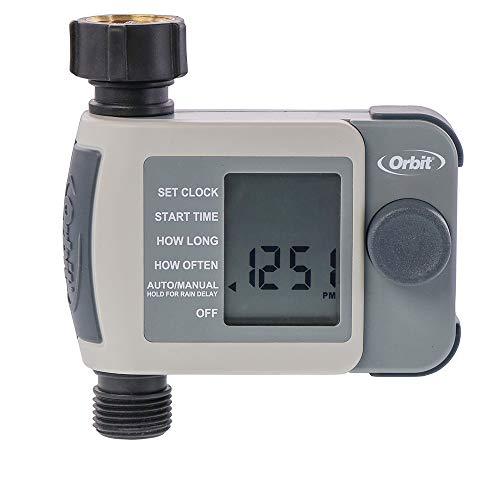 Orbit 24620 1-Outlet Hose Faucet Timer, Gray