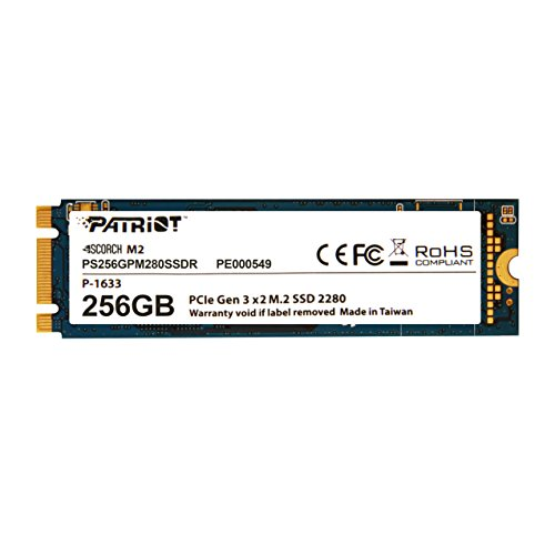 Patriot Scorch 256GB NVMe M.2 PCIe Solid State Drive Up to 1
