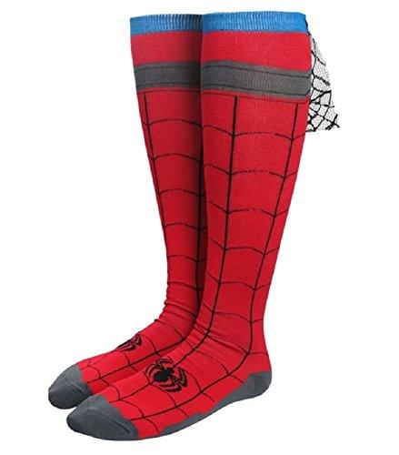 Marvel Comics Spider-Man Costume Knee High Cape Socks - Captain America Avengers 2 New Costume