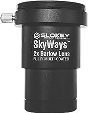 Barlow 2X Pro Slokey SkyWays Achromatische lens van uitstekende kwaliteit, behandeld met FMC en antireflecterende coating voor een helder en helder beeld - superlicht, compact en robuust (1,25 inch)