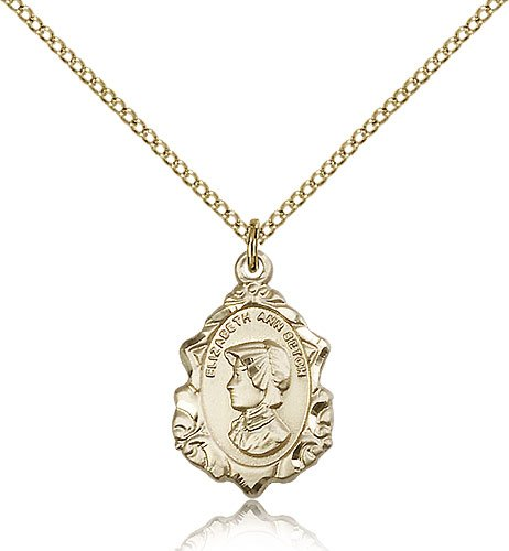 Religious Obsession Gold Filled St 18 Chain Elizabeth Ann Seton Pendant