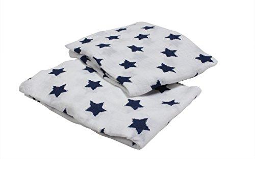 Bacati Piece Stars Muslin Sheets product image