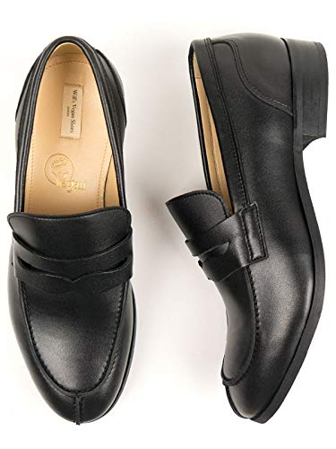 Will's Vegan Shoes Mens City Loafers-UK 7 / EU 41 / US 8 Black