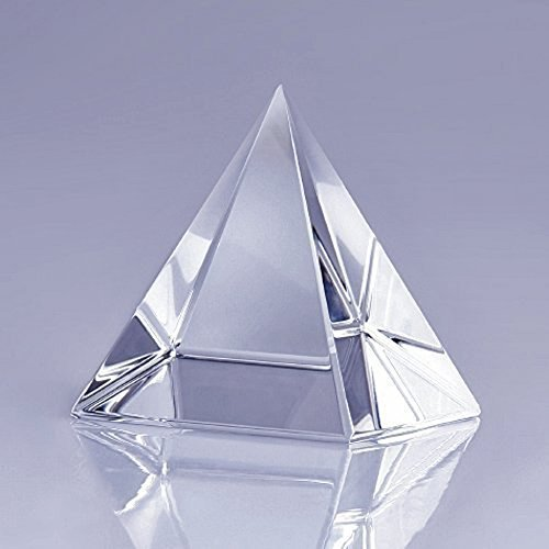 Clear Crystal Pyramid MerryNine Ornament