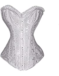 Floral Tapestry Steel Boned Fashion Corset, Halloween Costumes