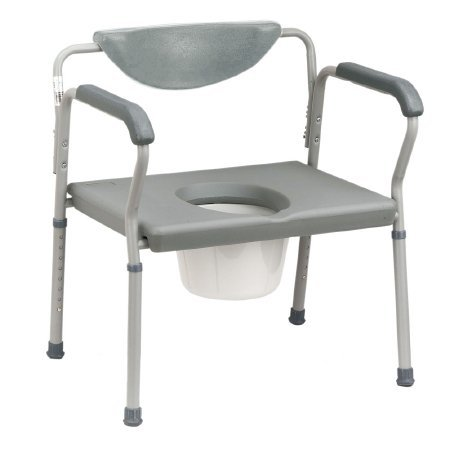 Drive Medical Bariatric Assembled Commode, Grey by Drive Medical