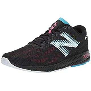 New Balance Women's 1400v6 Running Shoe, Black/Pink zing, 11 D US