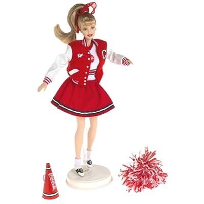 2000 Barbie - Coca Cola Cheerleader - Barbie Blonde Pom Pomm Girl - Edition Collector - #28376