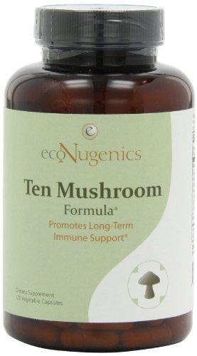 EcoNugenics Десять Mushroom Формула, 120 растительного капсулы бутылка